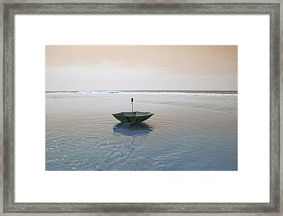 Topsail Floating Umbrella Framed Print by Betsy Knapp