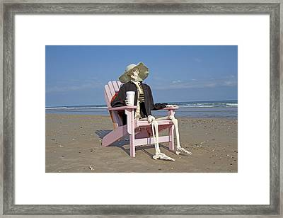 Topsail Island Beach Pirate Framed Print by Betsy Knapp
