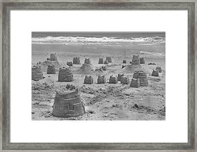 Topsail Island Sandcastle Framed Print by Betsy Knapp