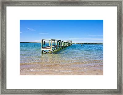 Topsail Island Sound Framed Print by Betsy Knapp
