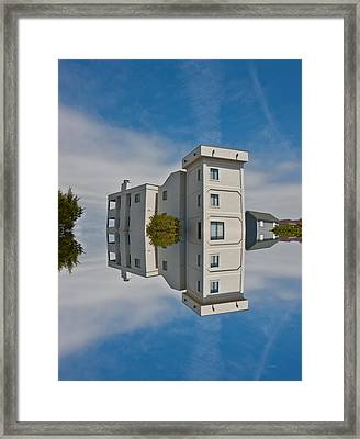 Topsail Island Tower Reflection Framed Print