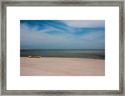 Topsail Kayak Framed Print by Betsy Knapp