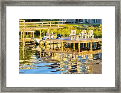 Topsail Sound At Sunset Framed Print
