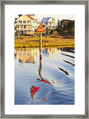 Topsail Sound Sunset Framed Print by Betsy Knapp