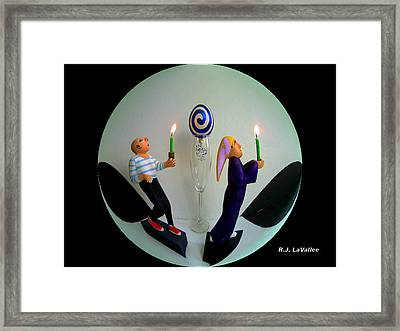Torch Light Parade Framed Print