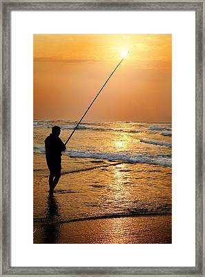 Torch Framed Print by Miguel Capelo