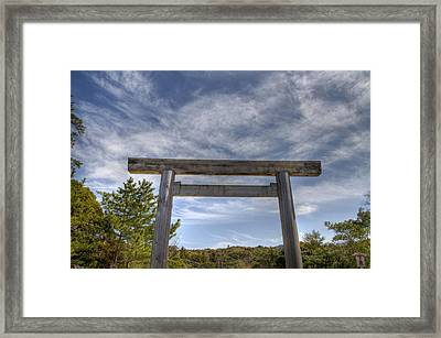 Framed Print featuring the photograph Torii by Tad Kanazaki