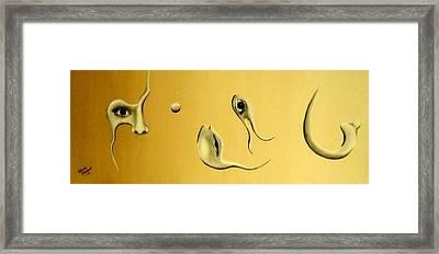 Torn Apart Framed Print by Edwin Alverio