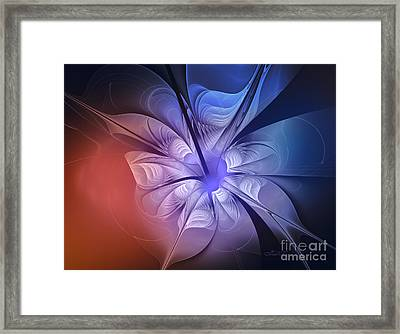 Torn Flower Framed Print by Jutta Maria Pusl