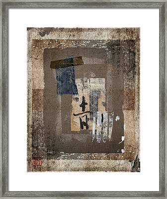 Torn Papers On Wall Number 3 Framed Print by Carol Leigh