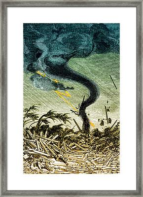 Tornado, 19th Century Framed Print by Photo Researchers