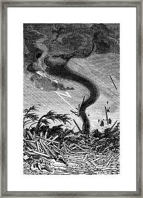 Tornado, 19th Century Framed Print by Science Source