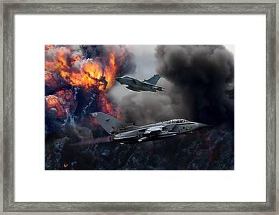 Tornado Gr4 Attack Framed Print by Ken Brannen