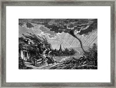 Tornado, Scattering Terror Framed Print by Science Source