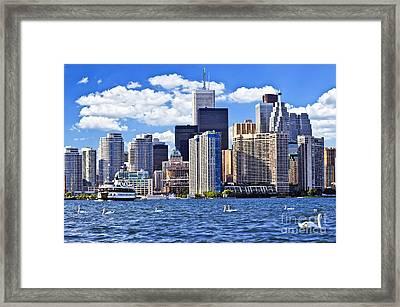 Toronto Waterfront Framed Print by Elena Elisseeva