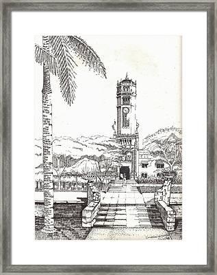 Torre De La Universidad De Puerto Rico Framed Print by Juan  Salazar