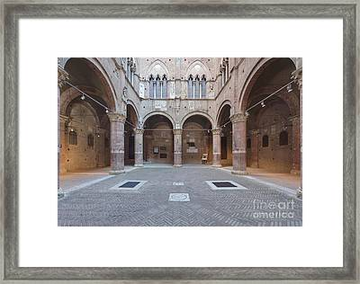 Torre Del Mangia Interior Framed Print by Rob Tilley