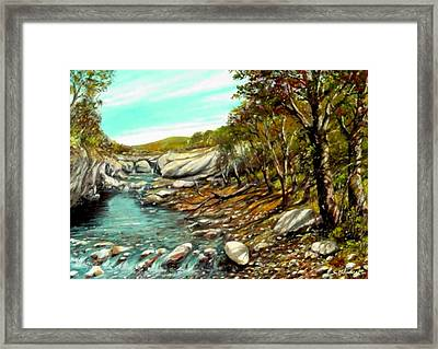 torrente Farma Framed Print by Sandro  Mulinacci