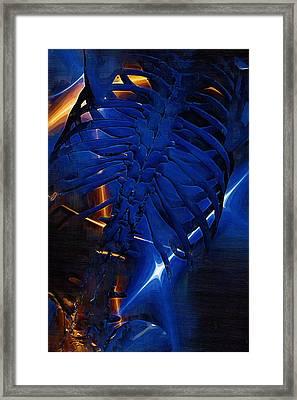 Torso Skeleton Framed Print