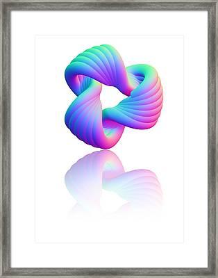 Torus Knot, Computer Artwork Framed Print by Pasieka