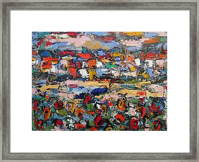 Toscano With Flowers Framed Print
