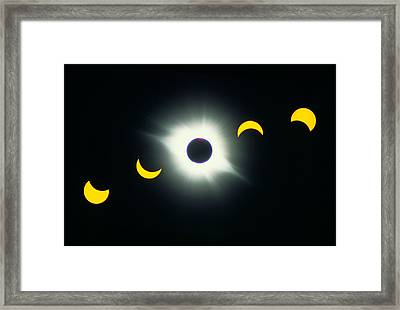 Total Solar Eclipse, 1991 Framed Print by George Post
