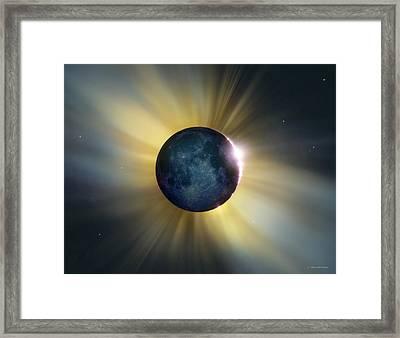 Total Solar Eclipse Framed Print by Detlev Van Ravenswaay