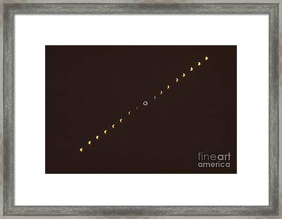 Total Solar Eclipse Sequence Framed Print by Science Source