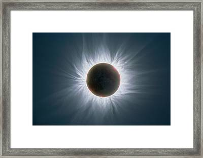 Total Solar Eclipse With Corona Framed Print by Dr Fred Espenak