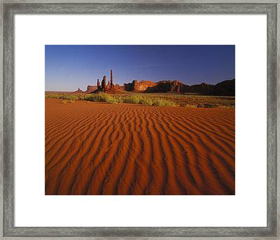 Totem Pole Rocks, Monument Valley Framed Print by Brian Lawrence