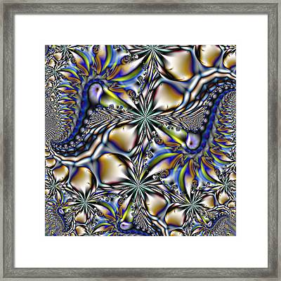 Toucans And Flowers - A Fractal Abstract Framed Print