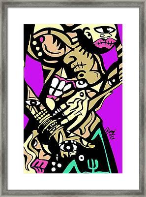 Touch It Full Color Framed Print by Kamoni Khem