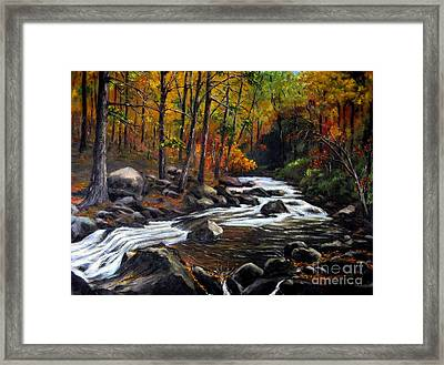 Touch Of Fall Framed Print