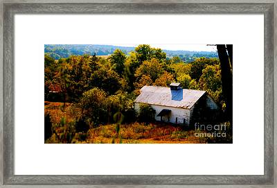 Framed Print featuring the photograph Touch Of Old Country by Peggy Franz