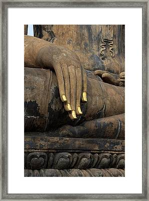 Touching The Earth Framed Print by Thomas  von Aesch