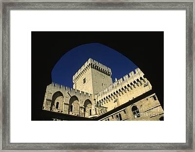 Tour Du Palais Des Papes En Avignon. Framed Print