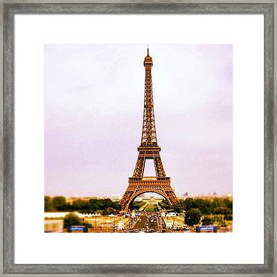 Tour Eiffel Framed Print by Luisa Azzolini