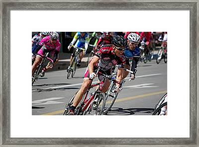 Framed Print featuring the photograph Tour Of The Gila - Criterium  by Vicki Pelham