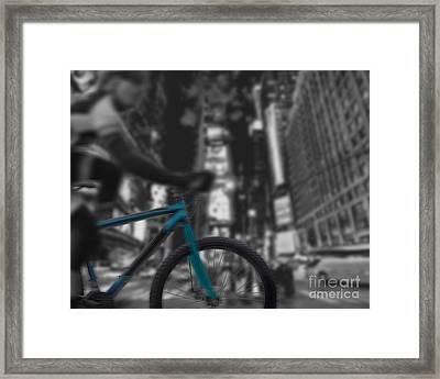 Touring The City Framed Print