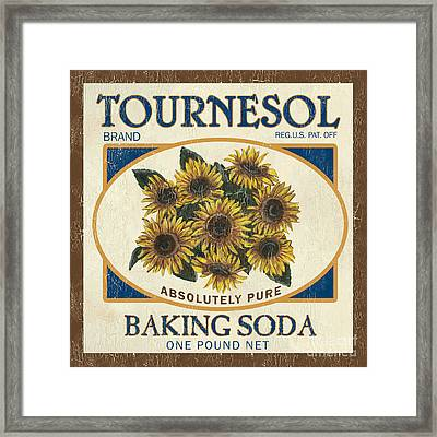 Tournesol Baking Soda Framed Print by Debbie DeWitt