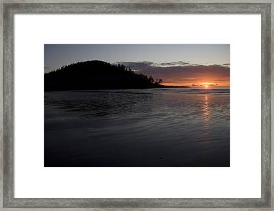 Tow Hill And North Beach At Sunset Framed Print by Taylor S. Kennedy