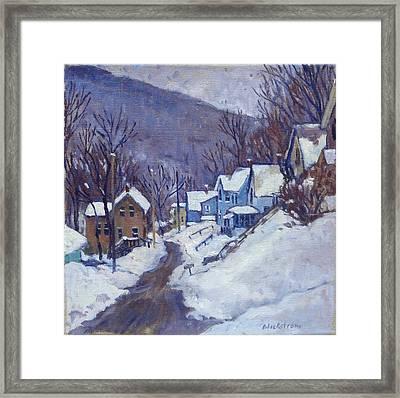 Toward Vermont Winter Framed Print by Thor Wickstrom