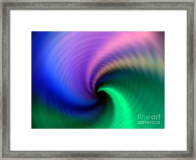 Towards The Abyss Framed Print by Yali Shi