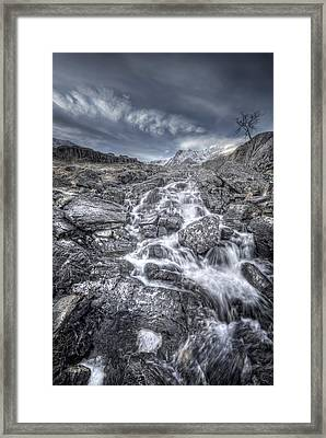 Towards The Cairn Framed Print by Andy Astbury