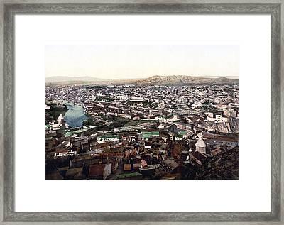 Towards The Megectski Castle - Tbilisi Georgia Framed Print by International  Images