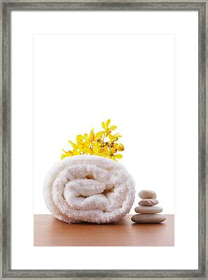 Towel Roll Framed Print