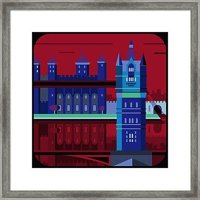 Tower Bridge And The Tower Of London, United Kingdom Framed Print by Nigel Sandor