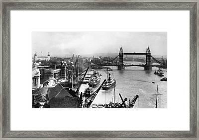 Tower Bridge Over The Thames River Framed Print by Everett