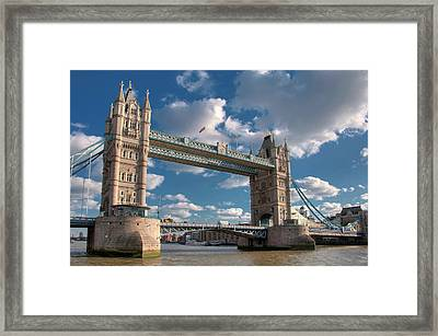 Tower Bridge Framed Print by Paul Biris