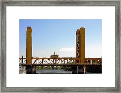 Tower Bridge Sacramento - A Golden State Icon Framed Print by Christine Till
